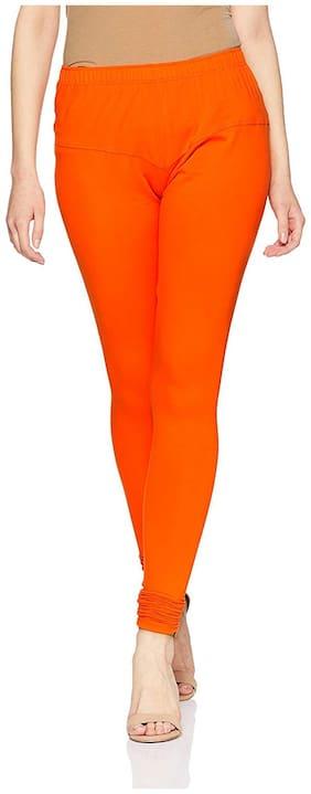JMO27Deals Women Cotton Leggings Orange