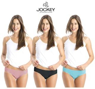 Jockey Assorted Cotton Pack of 3 Panty      (#1410 Plain)