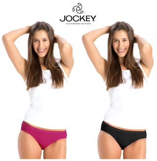 Jockey Assorted Cotton Pack of 2 Panty      (#1525 Plain )