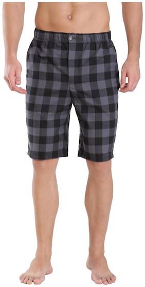 Men Checked Regular Shorts