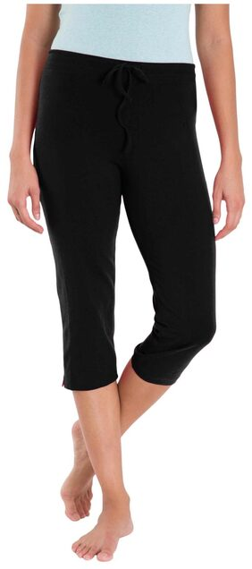 Jockey Women Solid Shorts - Black