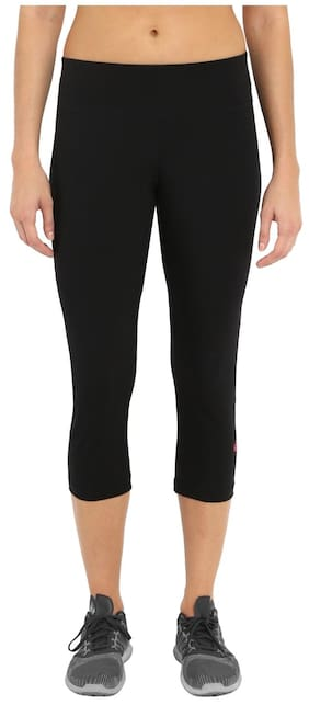 Jockey Women Regular Fit Cotton Solid Track Pants - Black