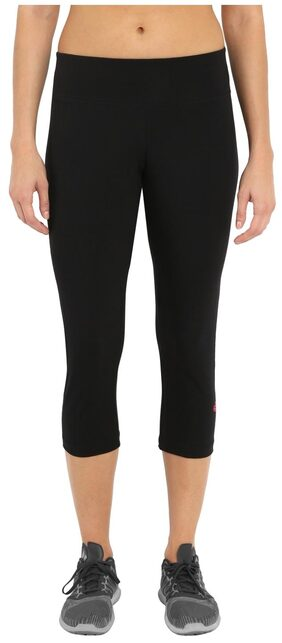 Jockey Black & Ruby Knit Sports Capri - Style Number : 1391