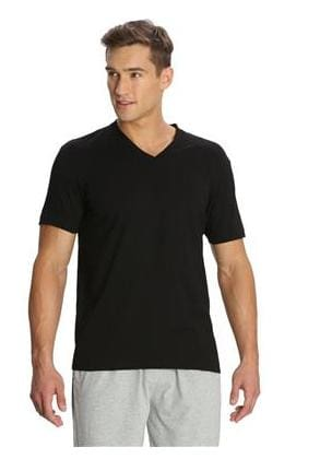 Jockey Men V Neck Sports T-Shirt - Black