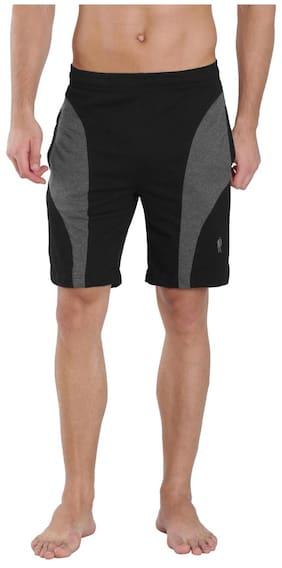 0de97a5755 Jockey Black & Charcoal Melange Knit Sport Shorts - Style Number 9411