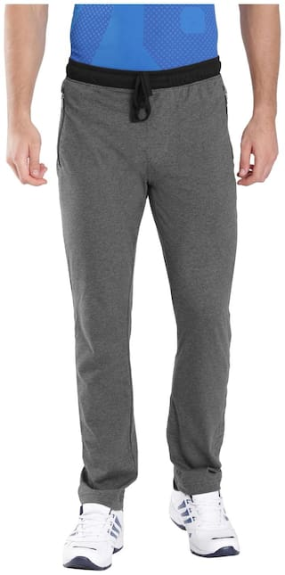 Jockey Charcoal Melange & Black Sports Track Pant - Style Number : 9510