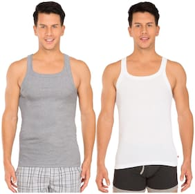 Jockey Cotton Sleeveless Square Neck Racer Back Style Assorted All Purpose Vest - Pack of 2 - Assorted