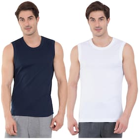 Jockey Cotton Sleeveless Gym Vest - Pack of 2 - Assorted