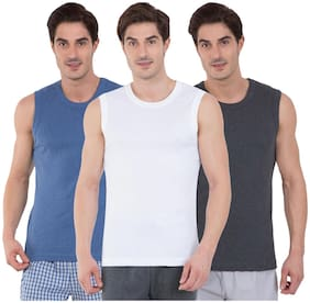 Jockey Cotton Sleeveless Gym Vest - Pack of 3 - Assorted