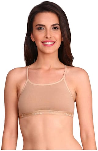 Jockey Fashion Essentials  Non Wired Non-Padded Cotton Bralette Beige