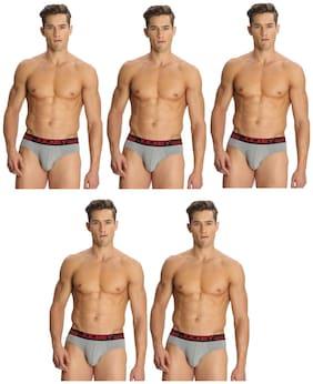 Men Cotton Solid Underwear ,Pack Of 5