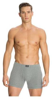 Jockey Grey Melange Boxer Brief - Style Number 8008