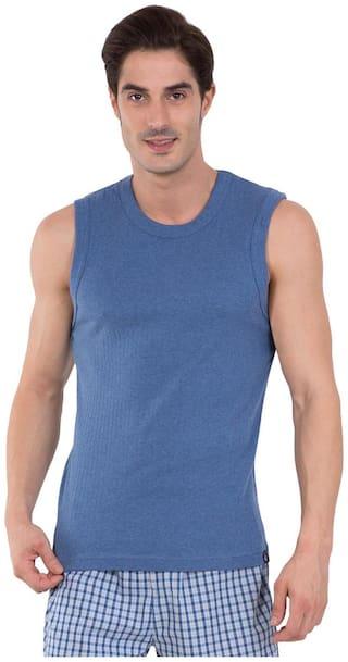 Jockey 1 Sleeveless Round Neck Men Gym Vest - Blue