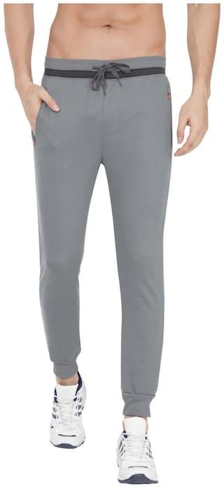 Jockey Men Grey Solid Slim fit Joggers