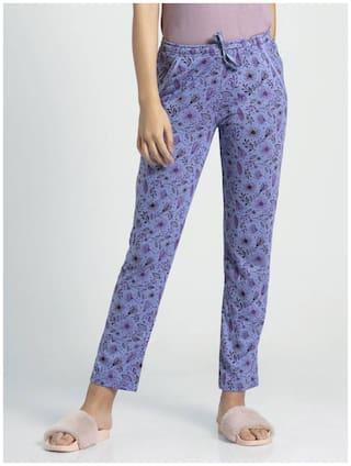 Jockey Women Microfibre Printed Pyjama - Blue