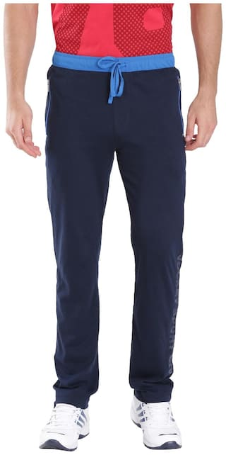 Jockey Navy & Neon Blue Sports Track Pant - Style Number : 9510