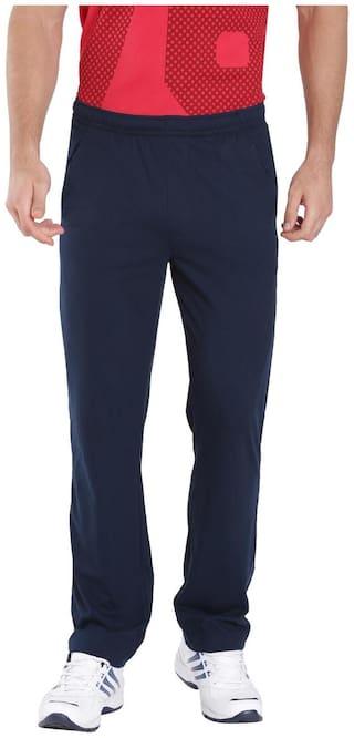 Jockey Men Blue Solid Regular fit Track pants