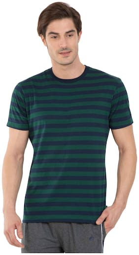 Jockey Men Round neck Sports T-Shirt - Green