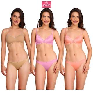 Jockey Women Cotton Solid Bikini - Multi