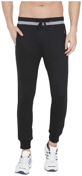 Jockey Men Black Solid Regular fit Track pants
