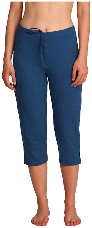Jockey Women Solid Regular capri - Blue