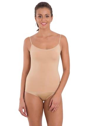 Jockey Women Blended Solid Beige Shaping Camisole