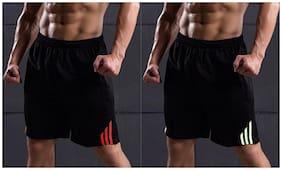 Men Solid Regular Shorts Pack Of 2