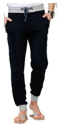JOGGERS PARK Men Cotton Blend Track Pants - Black