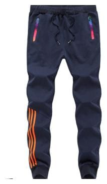 Joggers Park Navy Blue Skinny Fit Sports Track Pant For Men With Zipper Pockets