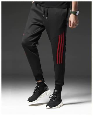 JOGGERS PARK Men Black Solid Slim fit Joggers