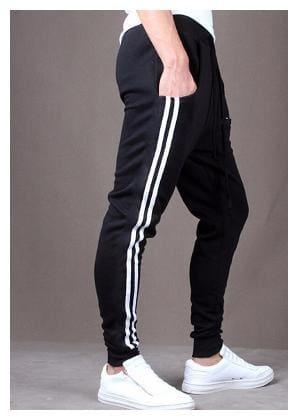 Joggers Park Black Skinny Fit Stylish Sports Track Pant For Men