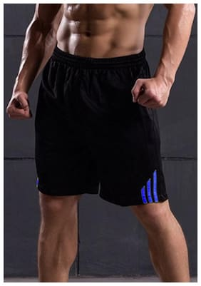 Men Solid Sports Shorts
