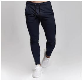 Slim Fit Cotton Blend Track Pants