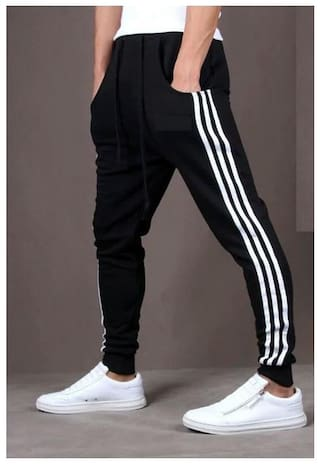 Joggers Park Black Stylish Sports Track Pant