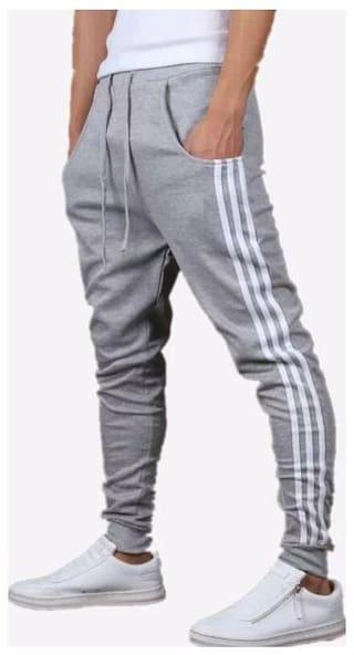 Joggers Park Grey Stylish Sports Track Pant