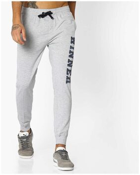 Teamspirit By Reliance Trends Men Blended Track Pants - Grey