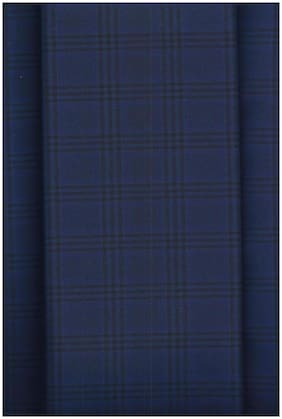 John Phillipe Poly Viscose Checkered Trouser Fabric  (Unstitched)