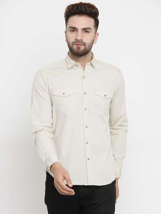 167172969d Buy John Players Men Slim Fit Casual shirt - White Online at Low ...