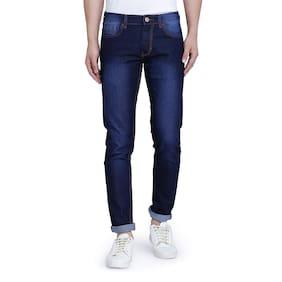 John Wills Men Mid Rise Slim Fit ( Slim Fit ) Jeans - Blue