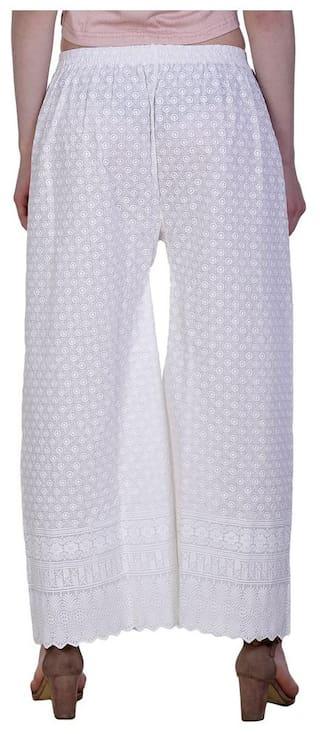 for Palazzo Jollify women's cotton work Fullchiken White zxrqXSrI