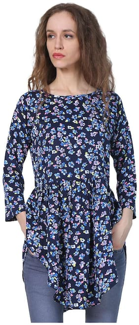 Jollify Women Cotton Printed - A-line top Multi