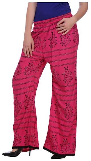 Jollify Regular Fit Women's Pink Trousers