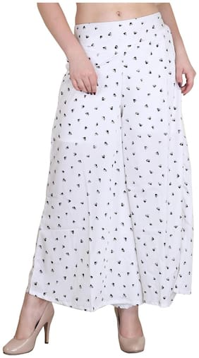 Jollify Regular Fit Women's White Trousers