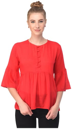 Jollify reyon Red women Top