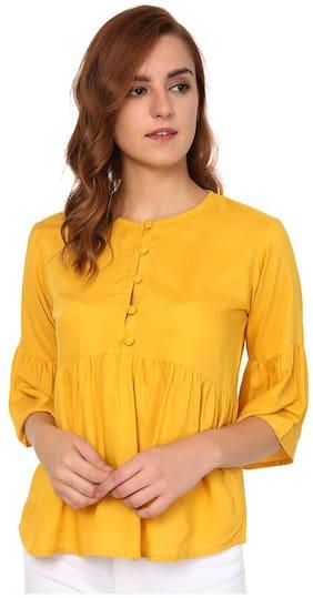 Jollify women's 3/4 sleev Masterd Rayon top