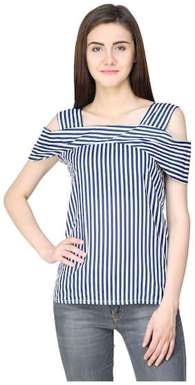 Jollify Women Rayon Striped - Regular Top Multi
