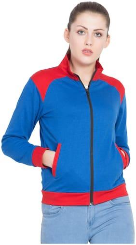 JOLLIY Women Solid Sweatshirt - Blue
