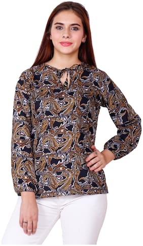 JOLLIY Women Crepe Printed - Regular top Multi