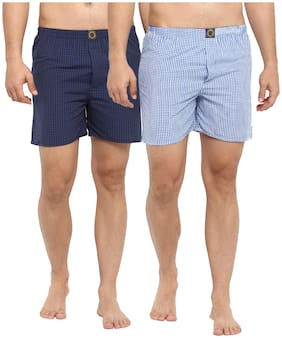 Men Cotton Checked Underwear