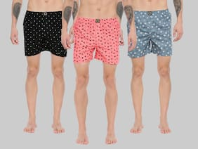 Men Cotton Printed Underwear ,Pack Of 3